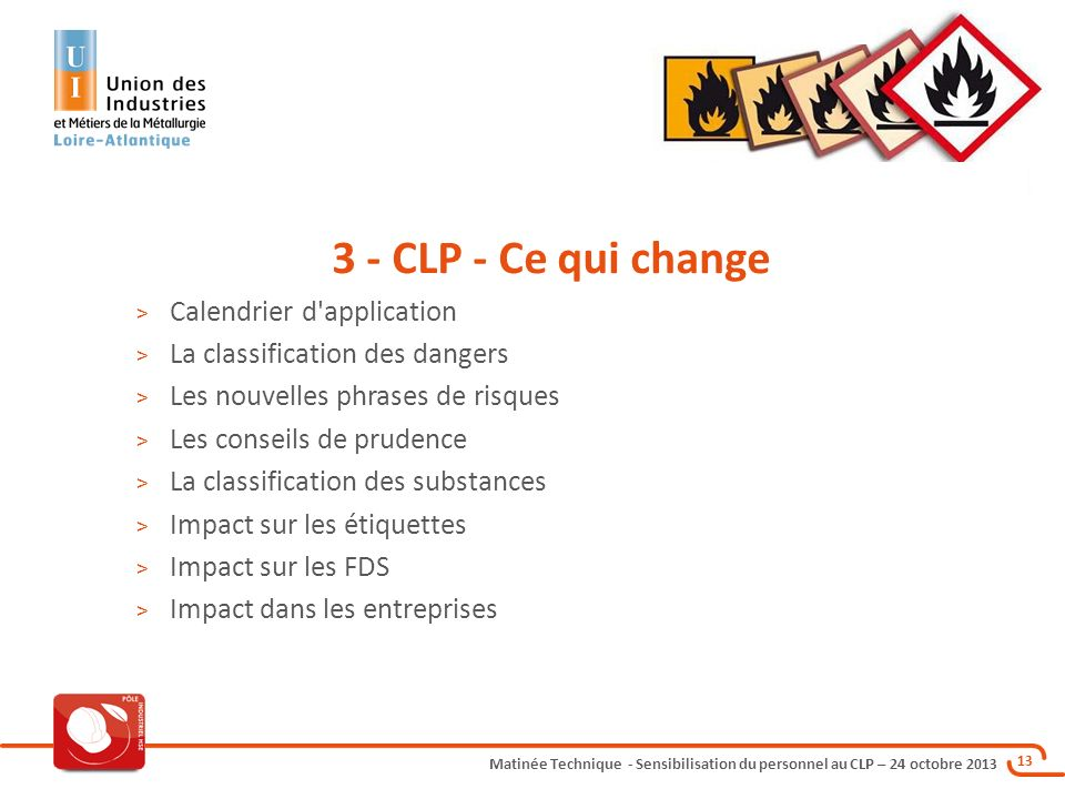 3 - CLP - Ce qui change Calendrier d application