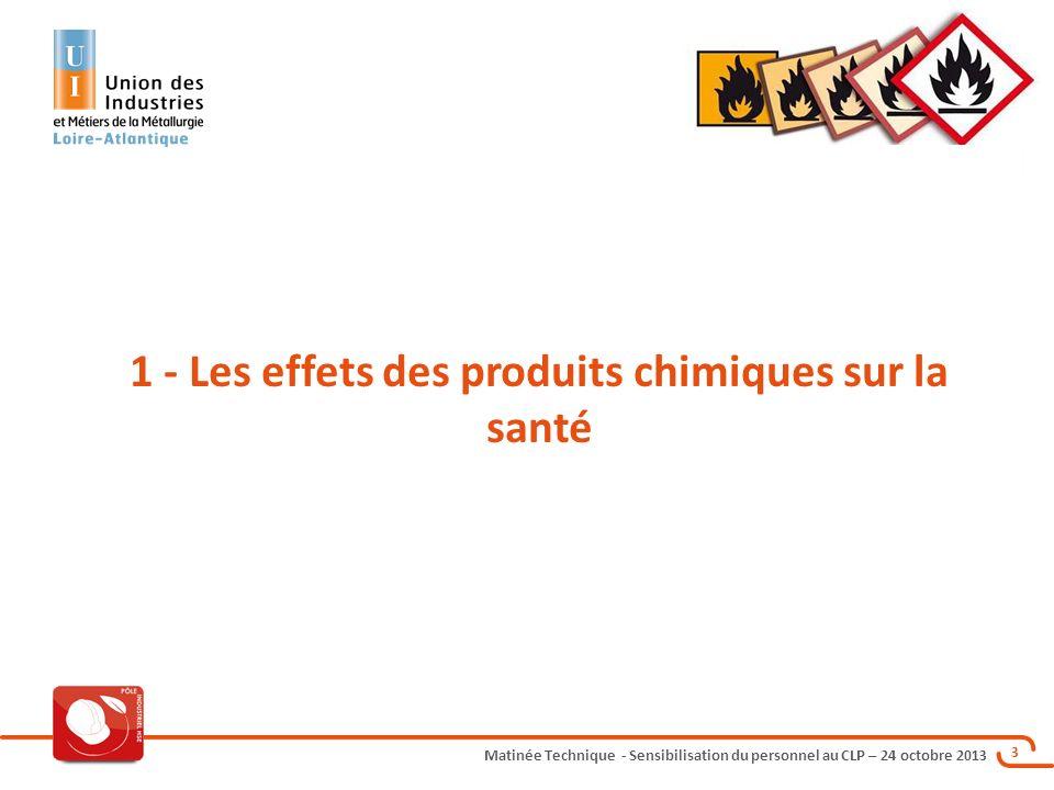 1 - Les effets des produits chimiques sur la santé
