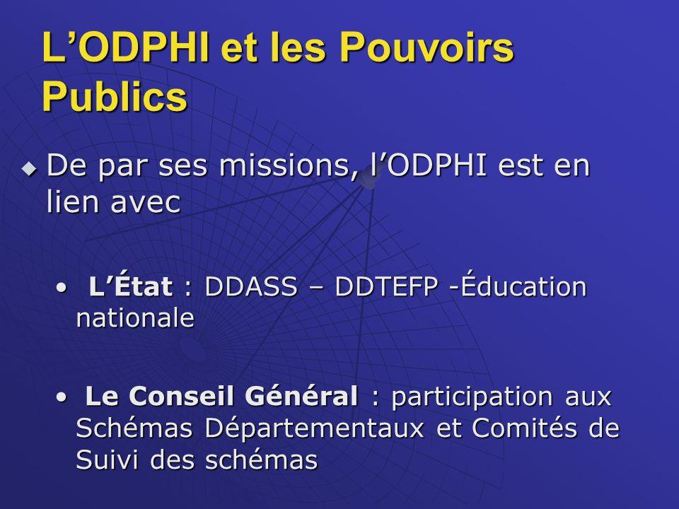 L'ODPHI et les Pouvoirs Publics