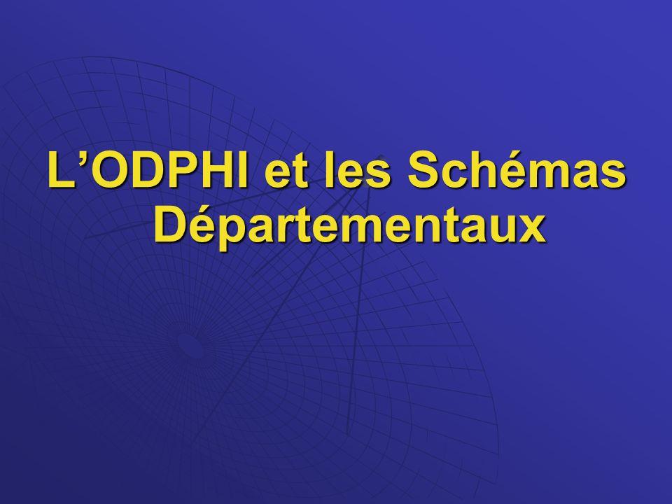L'ODPHI et les Schémas Départementaux
