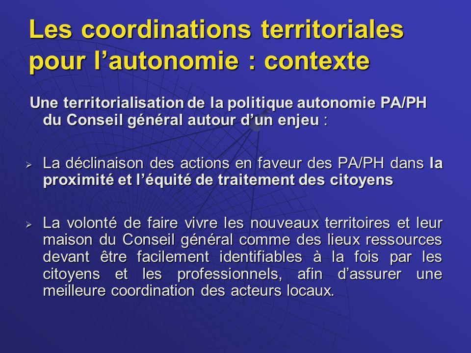 Les coordinations territoriales pour l'autonomie : contexte