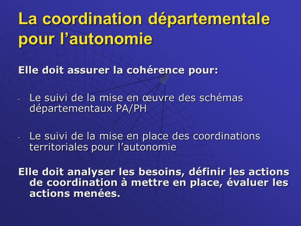 La coordination départementale pour l'autonomie