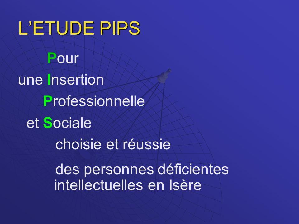 L'ETUDE PIPS Pour une Insertion Professionnelle et Sociale