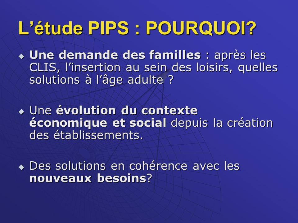 L'étude PIPS : POURQUOI