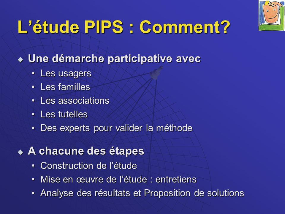 L'étude PIPS : Comment Une démarche participative avec