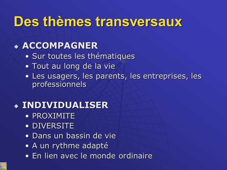 Des thèmes transversaux
