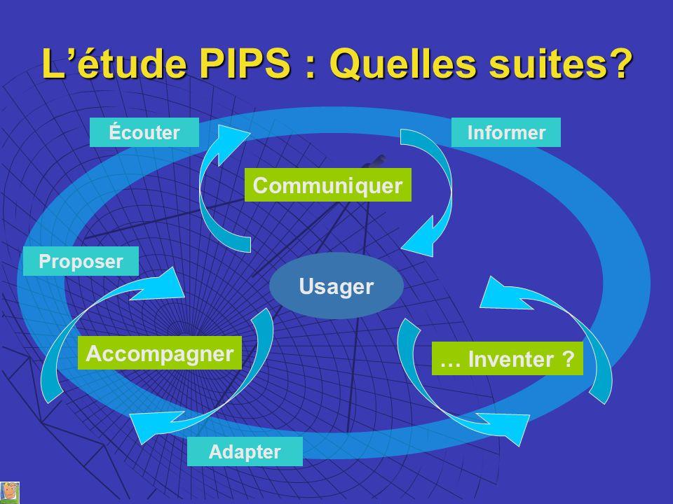 L'étude PIPS : Quelles suites