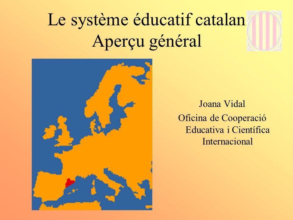 Le système éducatif catalan Aperçu général