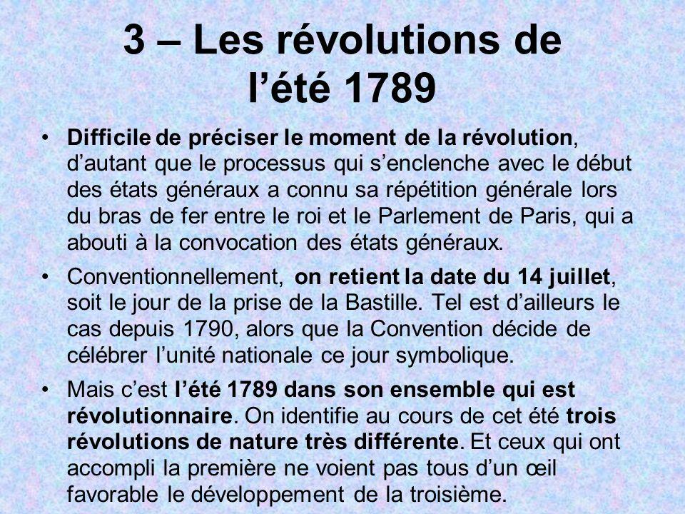 3 – Les révolutions de l'été 1789