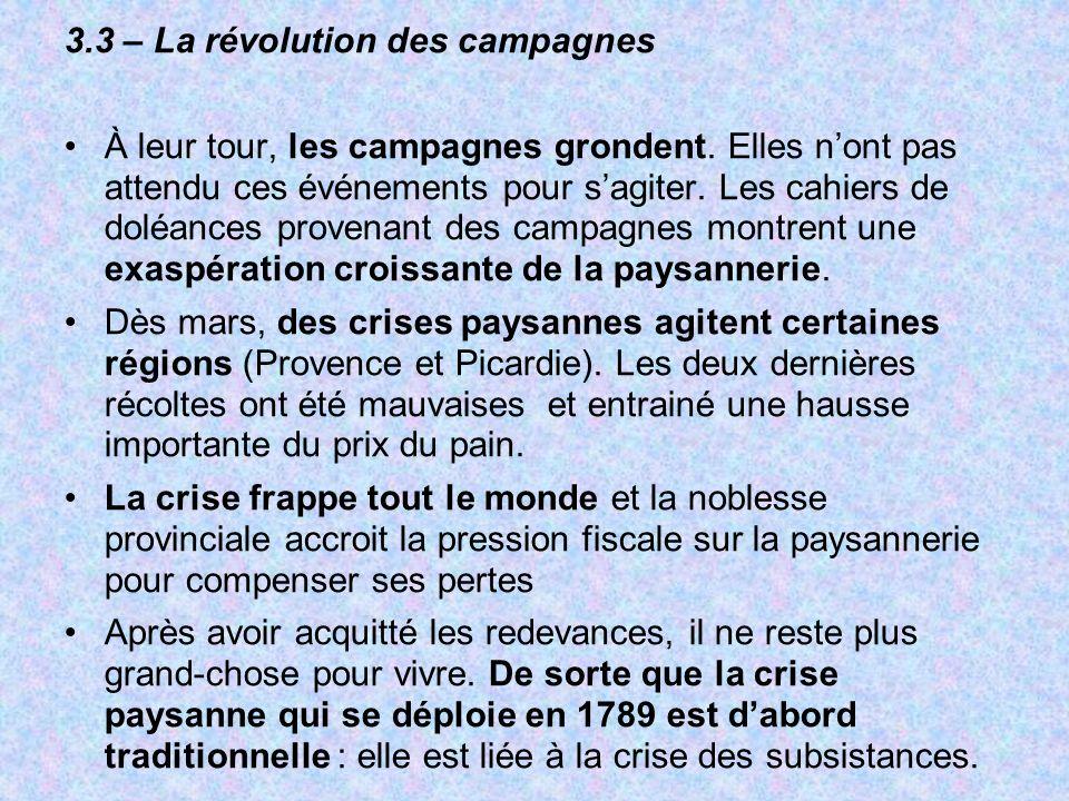 3.3 – La révolution des campagnes