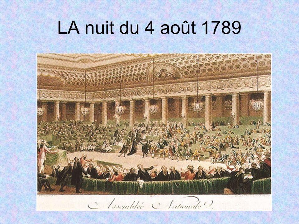 LA nuit du 4 août 1789