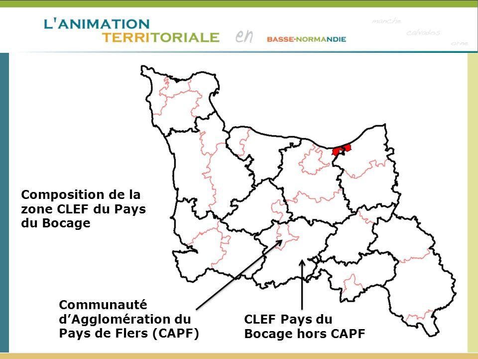 Composition de la zone CLEF du Pays du Bocage