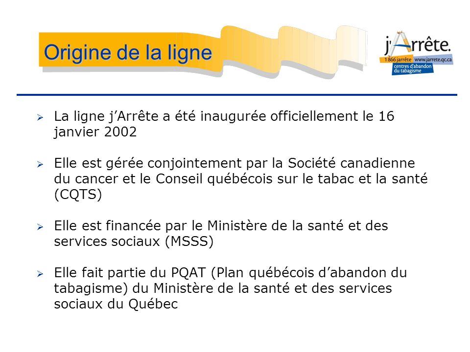 Origine de la ligne La ligne j'Arrête a été inaugurée officiellement le 16 janvier 2002.