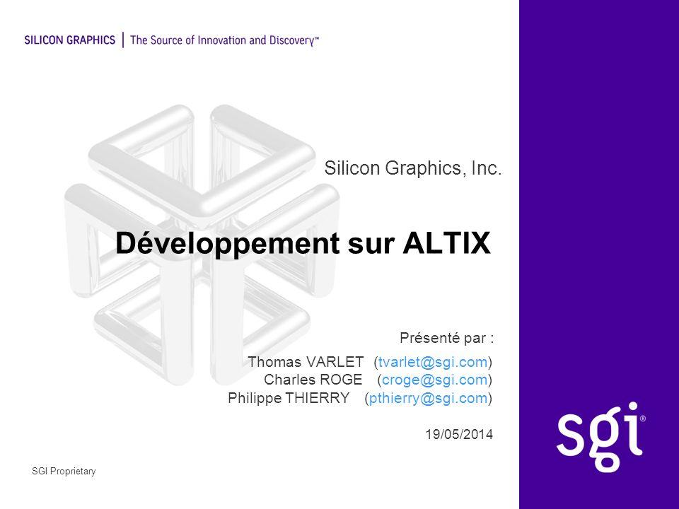 Développement sur ALTIX