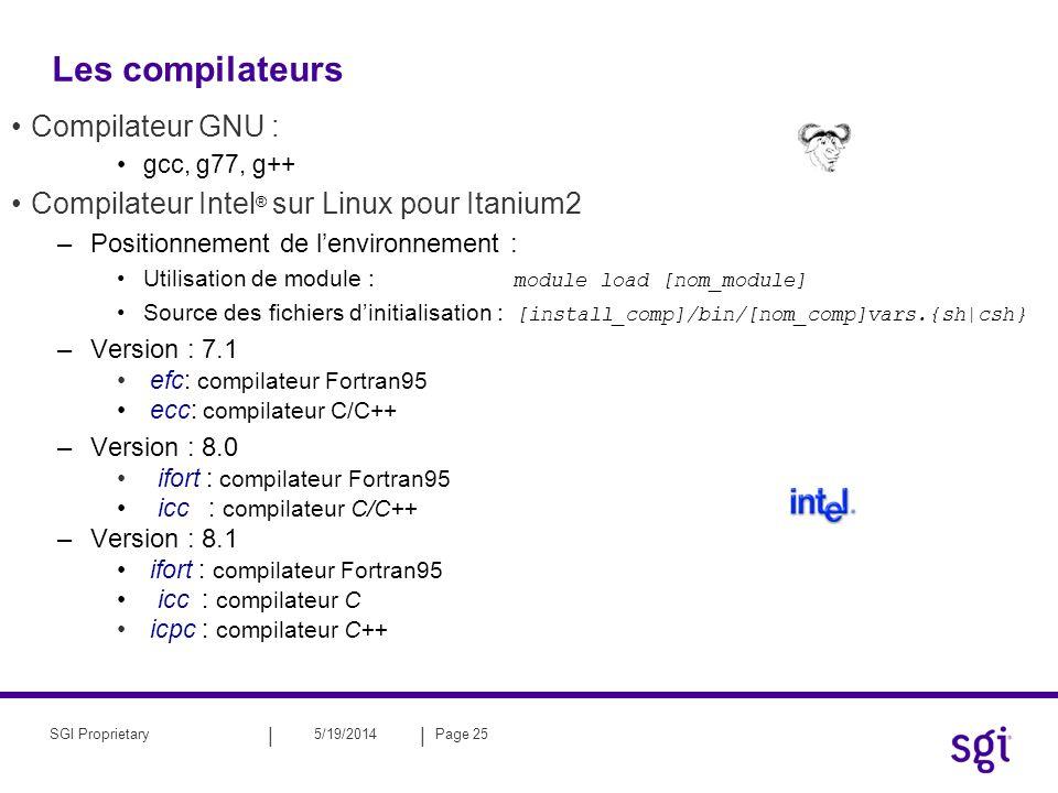 Les compilateurs Compilateur GNU :