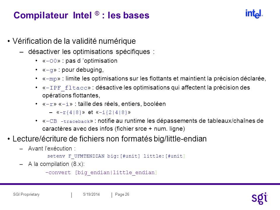 Compilateur Intel ® : les bases