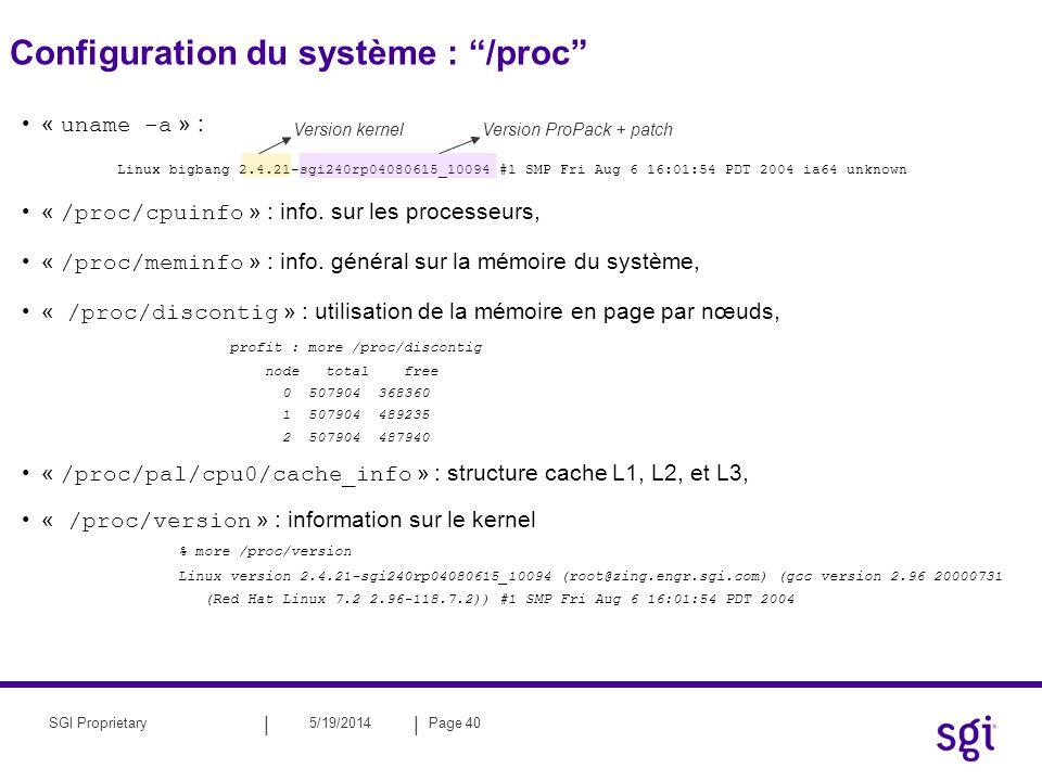Configuration du système : /proc