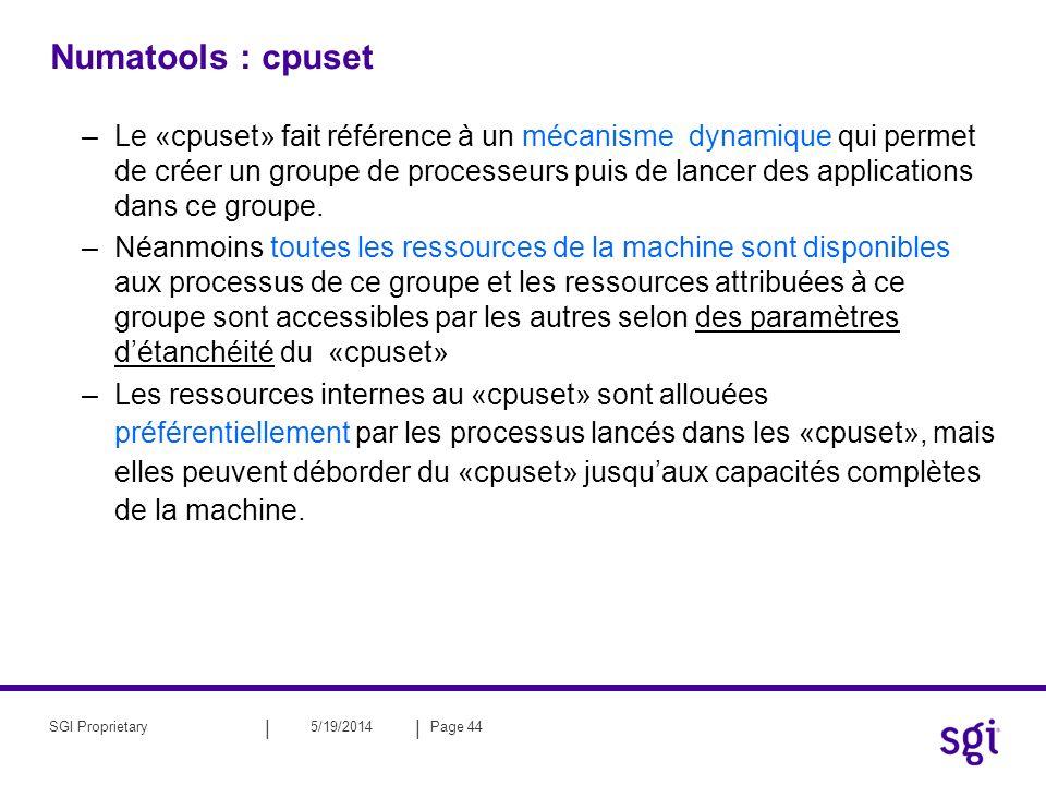 Numatools : cpuset