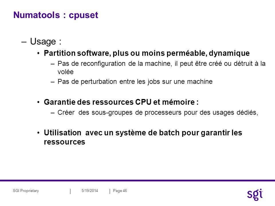 Numatools : cpuset Usage :