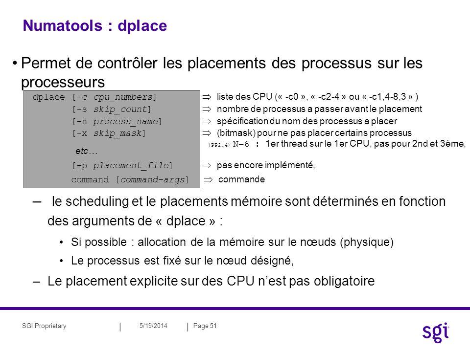 Permet de contrôler les placements des processus sur les processeurs