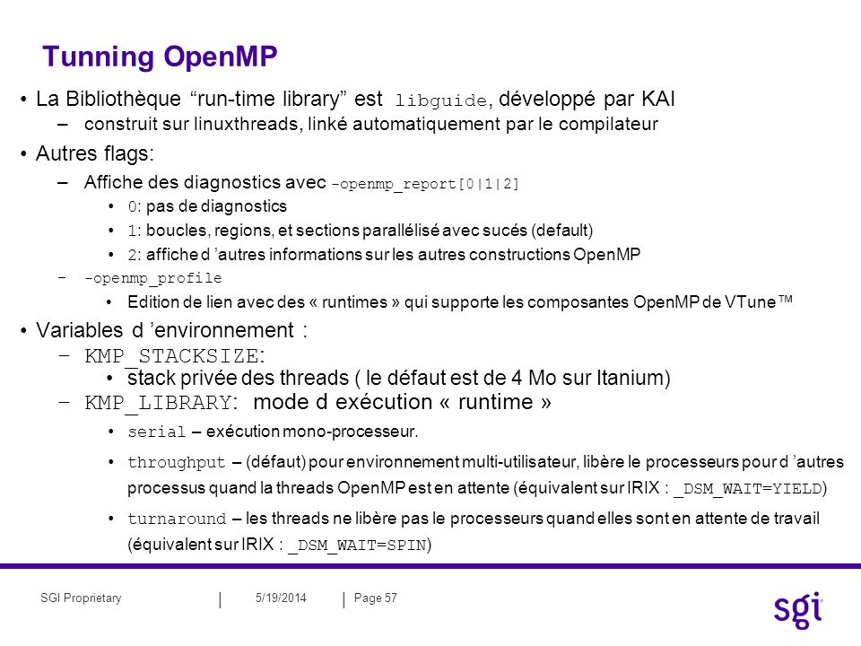 Tunning OpenMP KMP_STACKSIZE:
