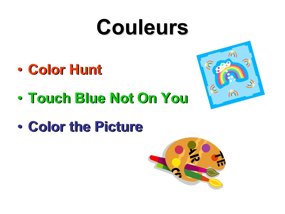 Couleurs Color Hunt Touch Blue Not On You Color the Picture