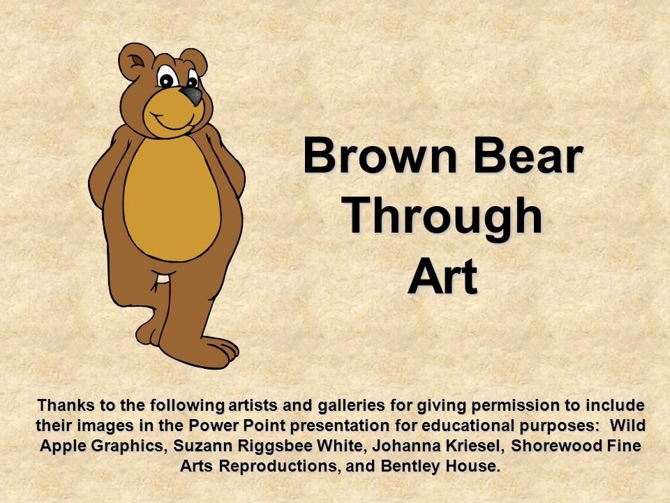 Brown Bear Through Art