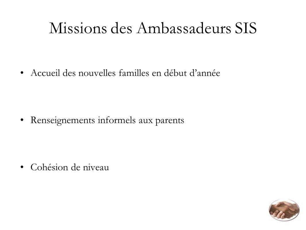 Missions des Ambassadeurs SIS