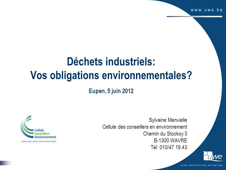 Déchets industriels: Vos obligations environnementales