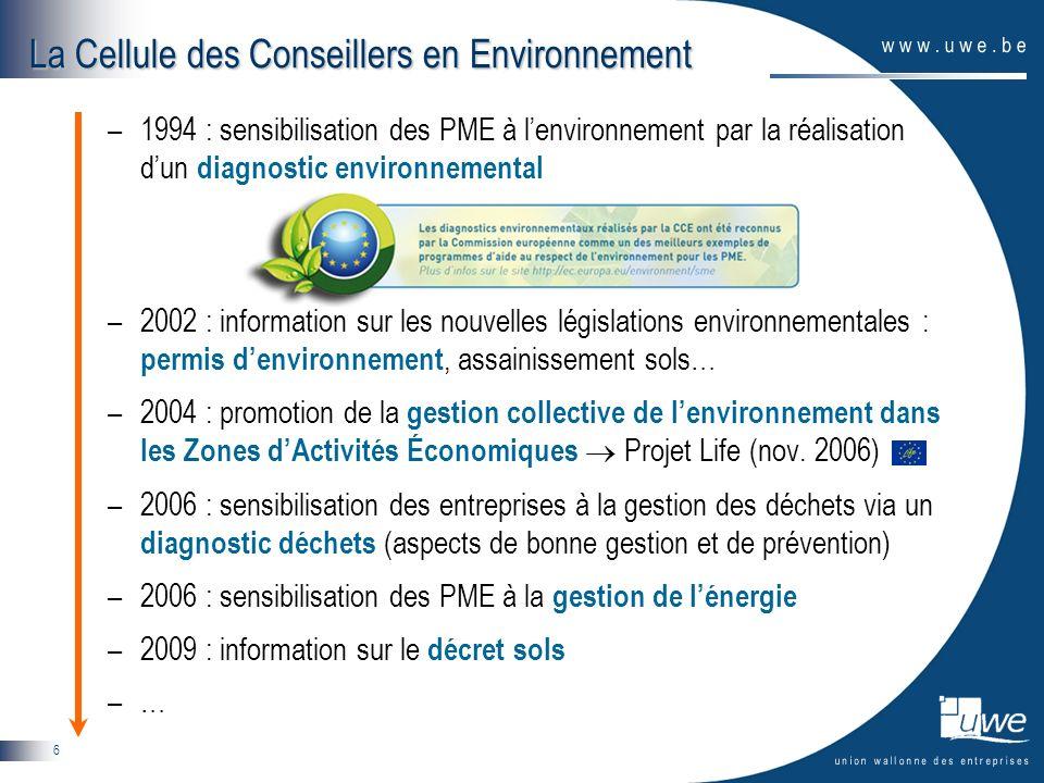 La Cellule des Conseillers en Environnement
