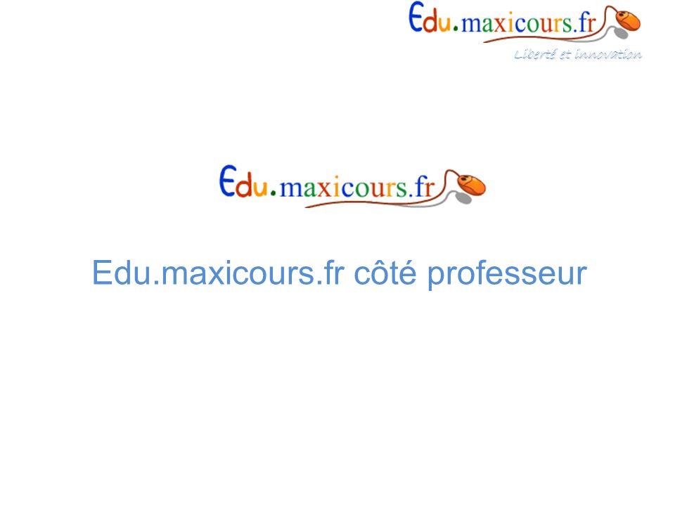 Edu.maxicours.fr côté professeur