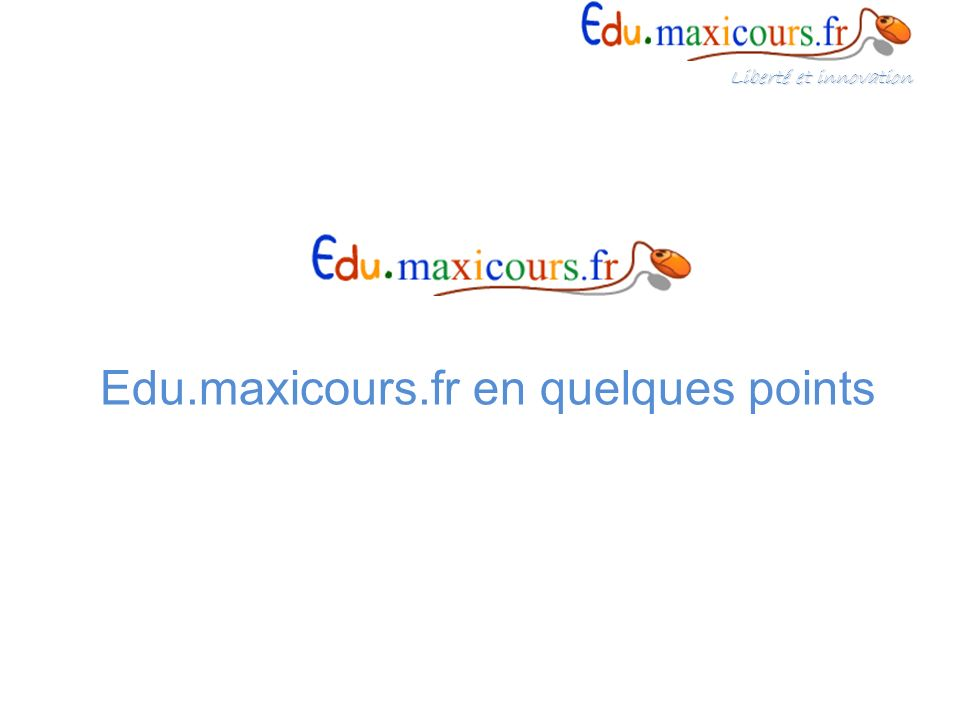 Edu.maxicours.fr en quelques points