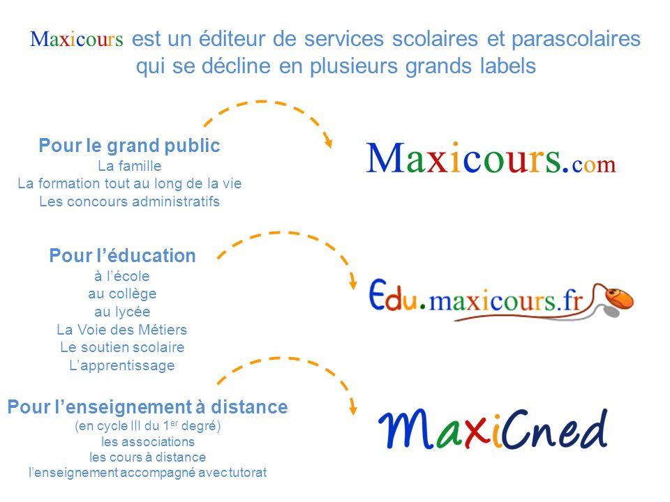 Maxicours est un éditeur de services scolaires et parascolaires