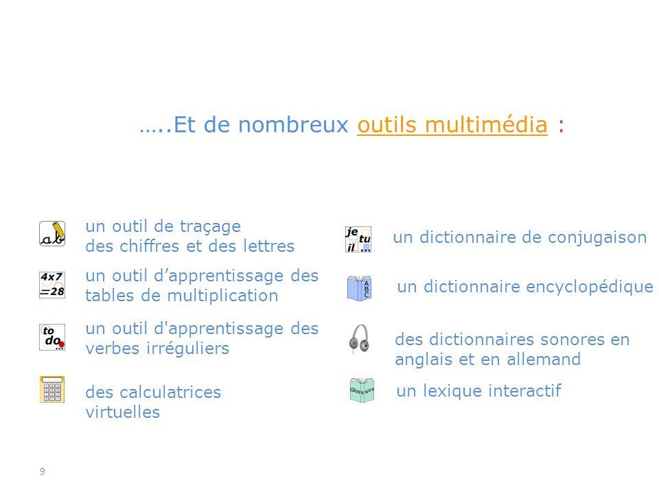 …..Et de nombreux outils multimédia :