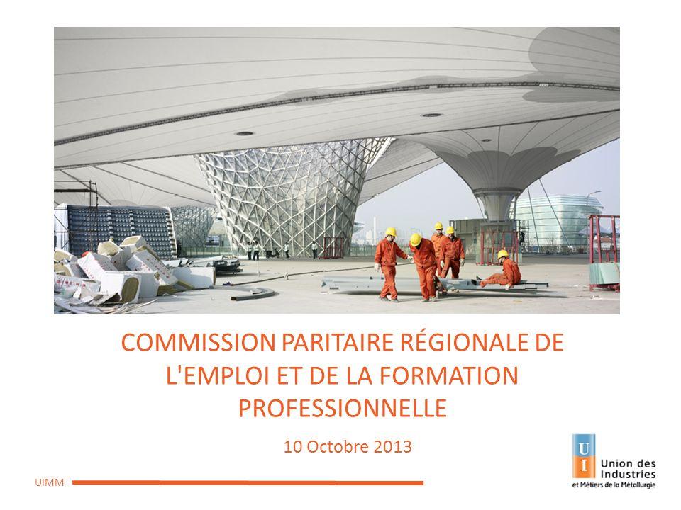 COMMISSION PARITAIRE RÉGIONALE DE L EMPLOI ET DE LA FORMATION PROFESSIONNELLE