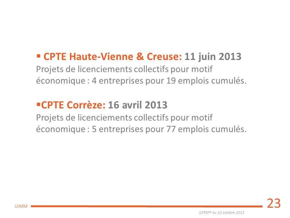 23 CPTE Haute-Vienne & Creuse: 11 juin 2013