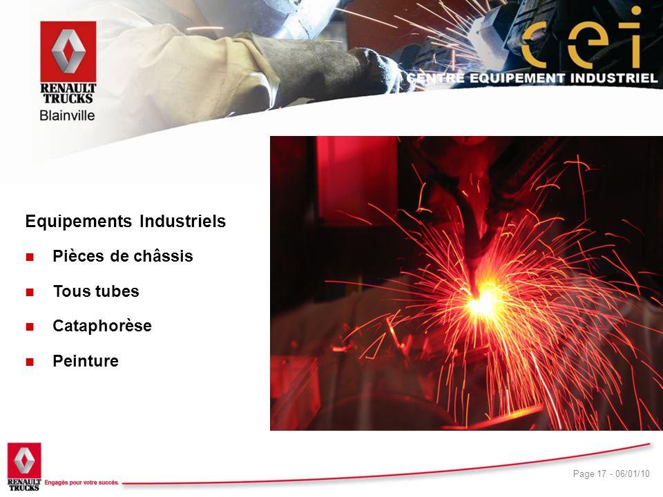 CEI Equipements Industriels Pièces de châssis Tous tubes Cataphorèse
