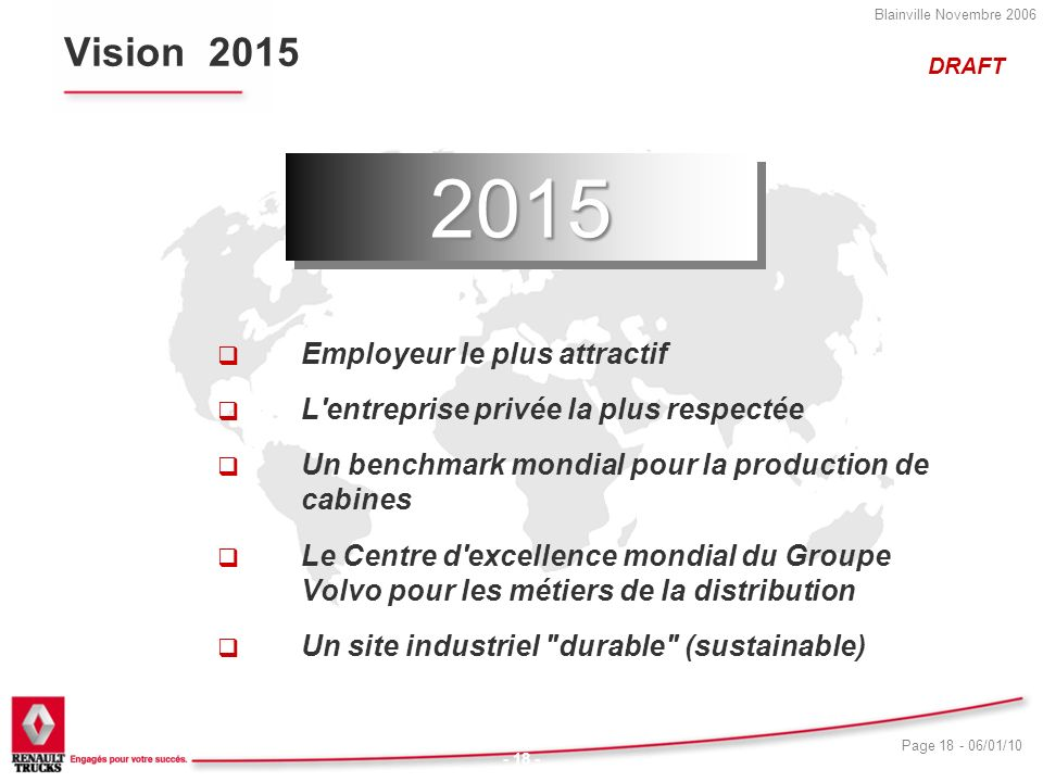 2015 Vision 2015 Employeur le plus attractif