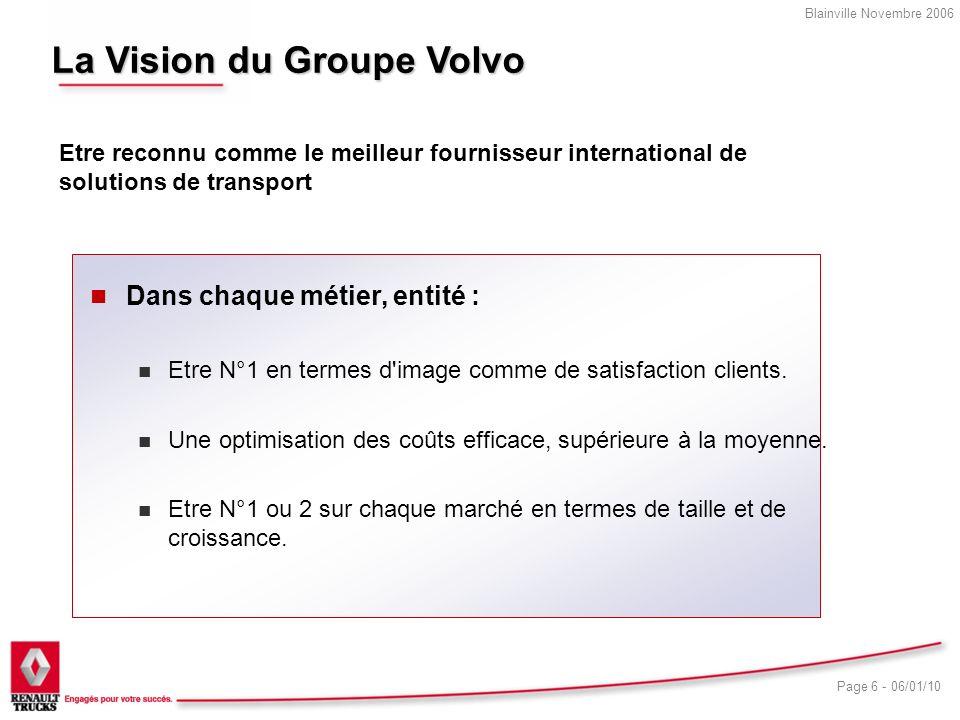La Vision du Groupe Volvo