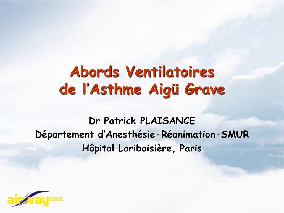 Abords Ventilatoires de l'Asthme Aigü Grave