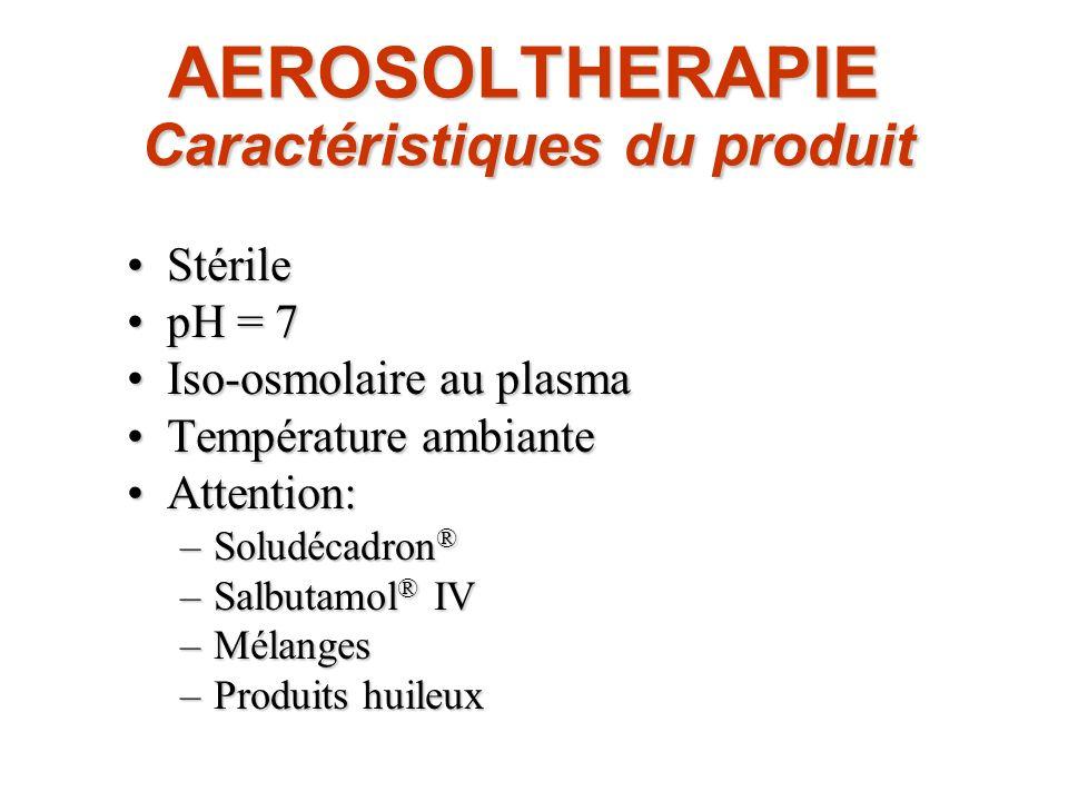AEROSOLTHERAPIE Caractéristiques du produit