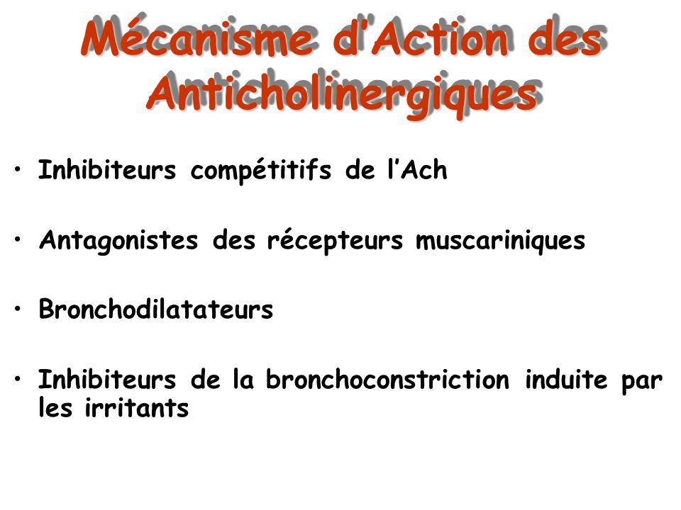 Mécanisme d'Action des Anticholinergiques