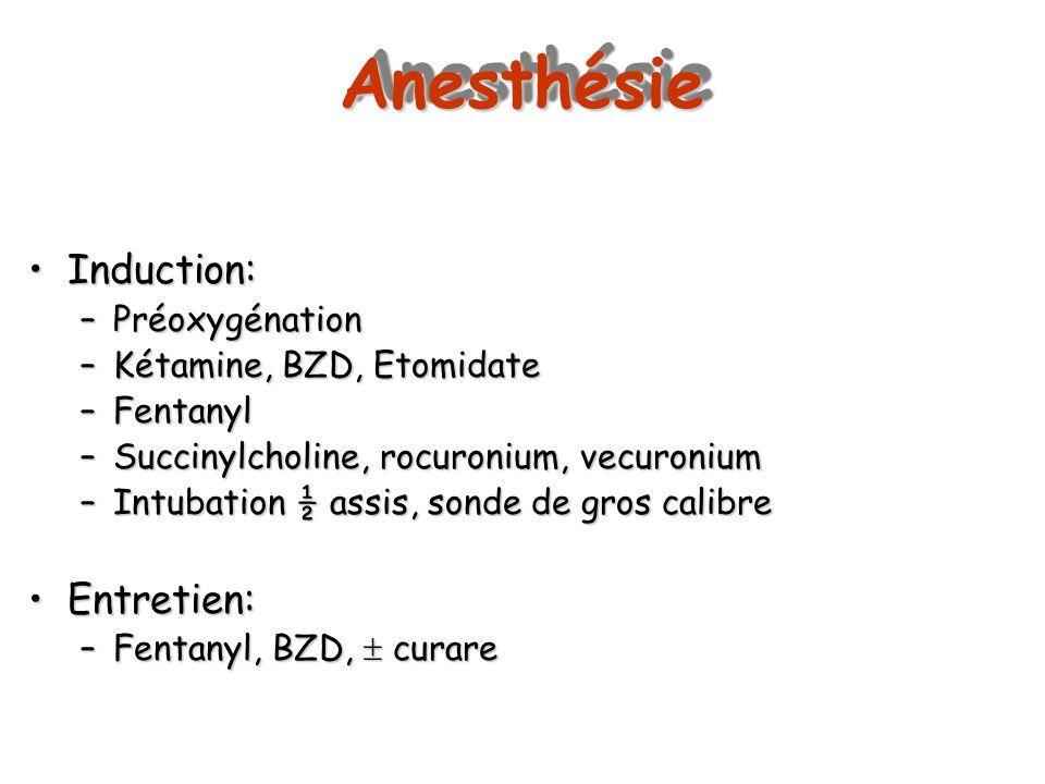 Anesthésie Induction: Entretien: Préoxygénation