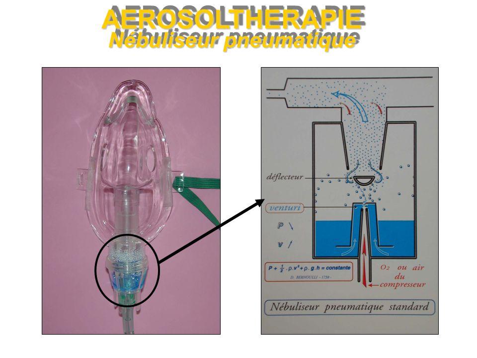 AEROSOLTHERAPIE Nébuliseur pneumatique
