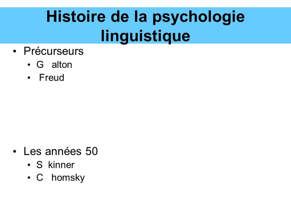 Histoire de la psychologie linguistique
