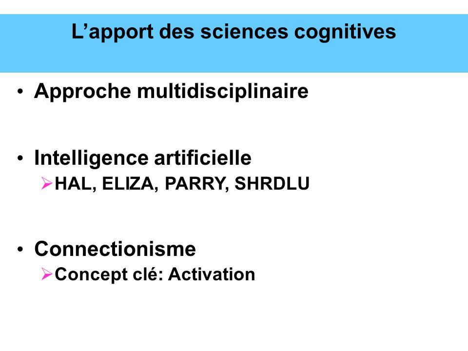 L'apport des sciences cognitives