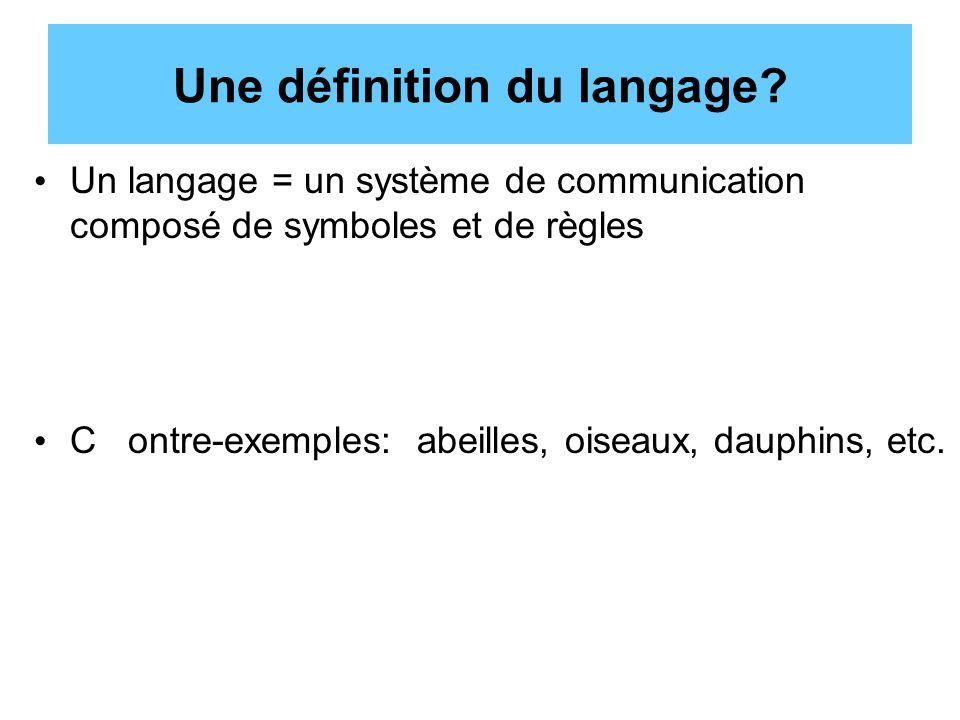 Une définition du langage