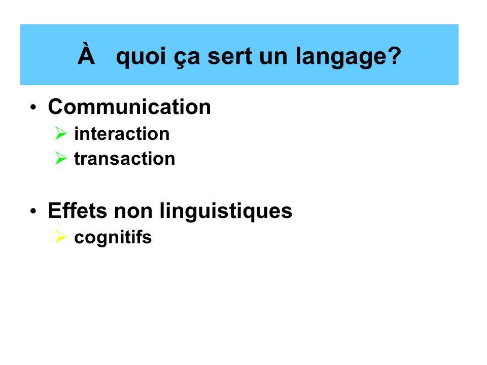 À quoi ça sert un langage