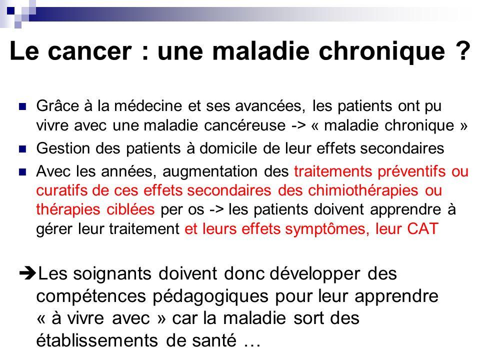 Le cancer : une maladie chronique