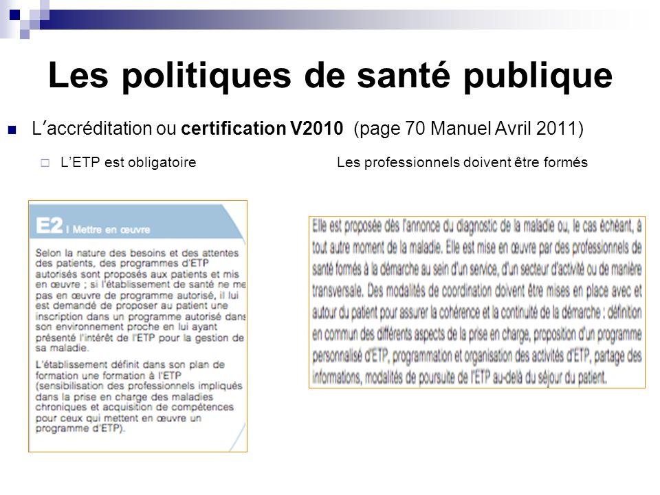 Les politiques de santé publique